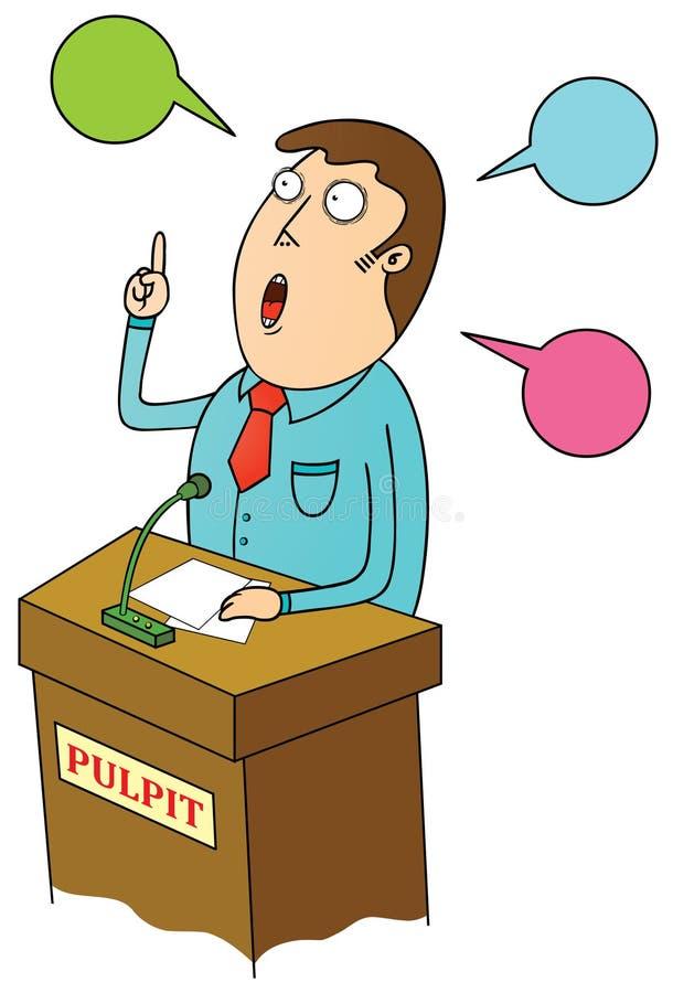 Het openbare spreken stock illustratie