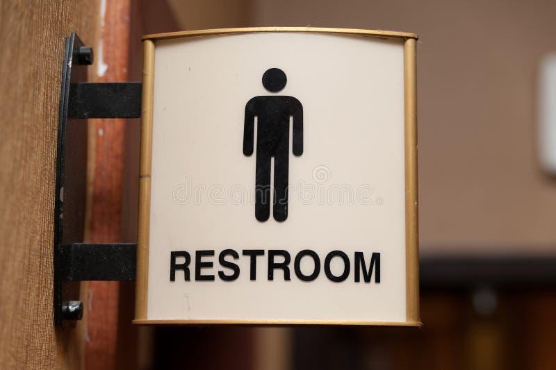 Het openbare teken van het mensentoilet royalty-vrije stock fotografie