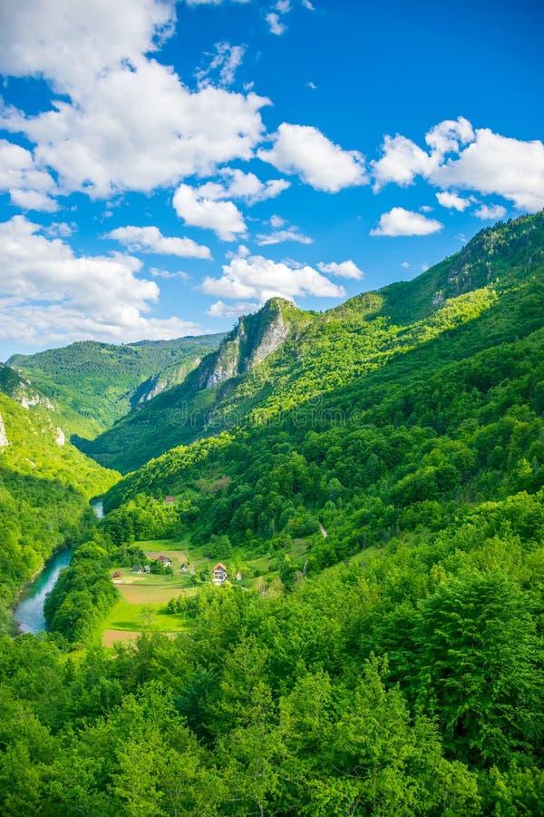 Het openen van het landschap van de brug Djurdjevic royalty-vrije stock afbeelding