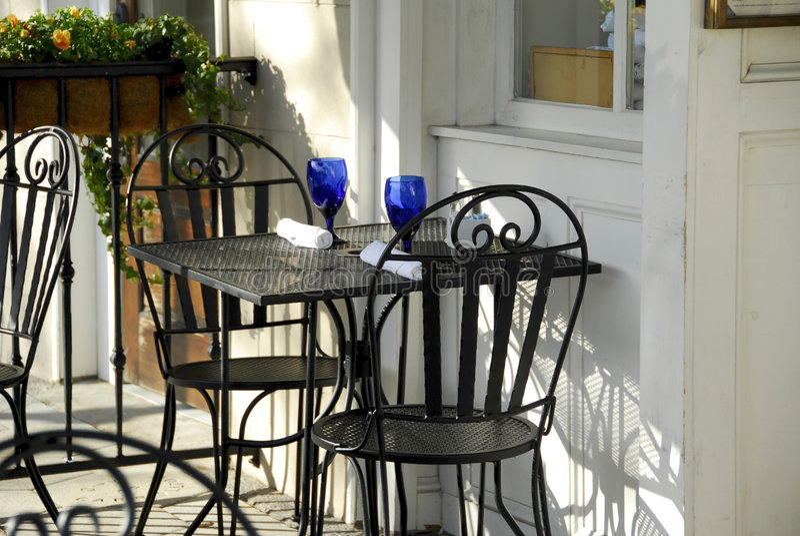 Het openlucht Dineren stock fotografie