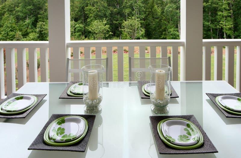 Het openlucht Dineren stock foto