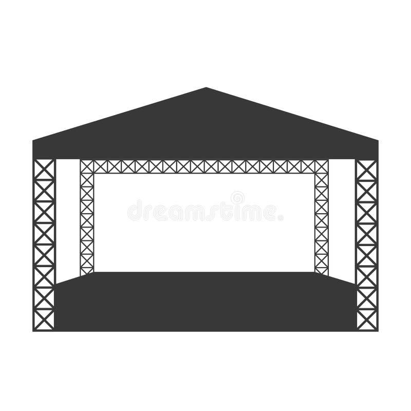 Het openlucht vlak pictogram van het rotsoverleg of embleemmalplaatje royalty-vrije illustratie