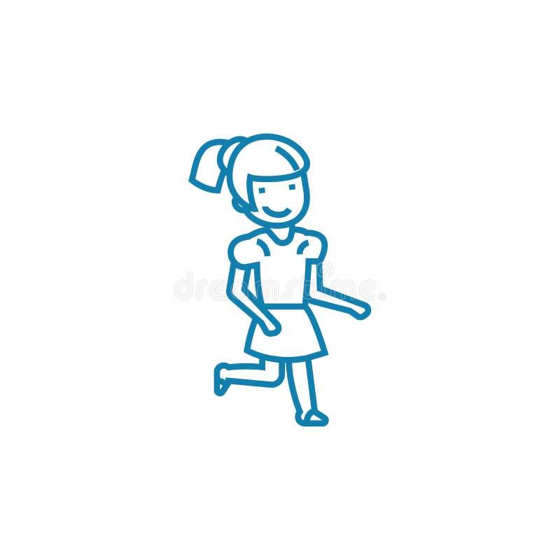Het openluchtconcept van het spelen lineaire pictogram Het openlucht vectorteken van de spelenlijn, symbool, illustratie vector illustratie