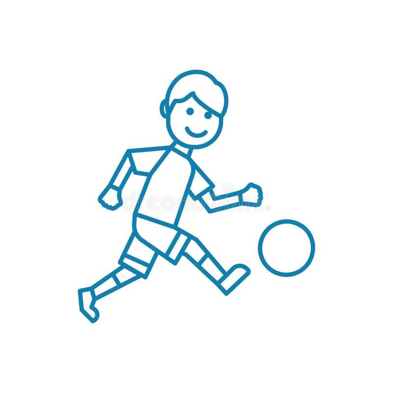 Het openluchtconcept van het voetbal lineaire pictogram Het openlucht vectorteken van de voetballijn, symbool, illustratie royalty-vrije illustratie