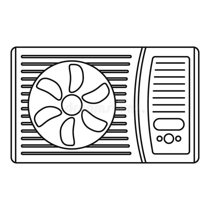 Het openluchtpictogram van de airconditionerventilator, overzichtsstijl stock illustratie