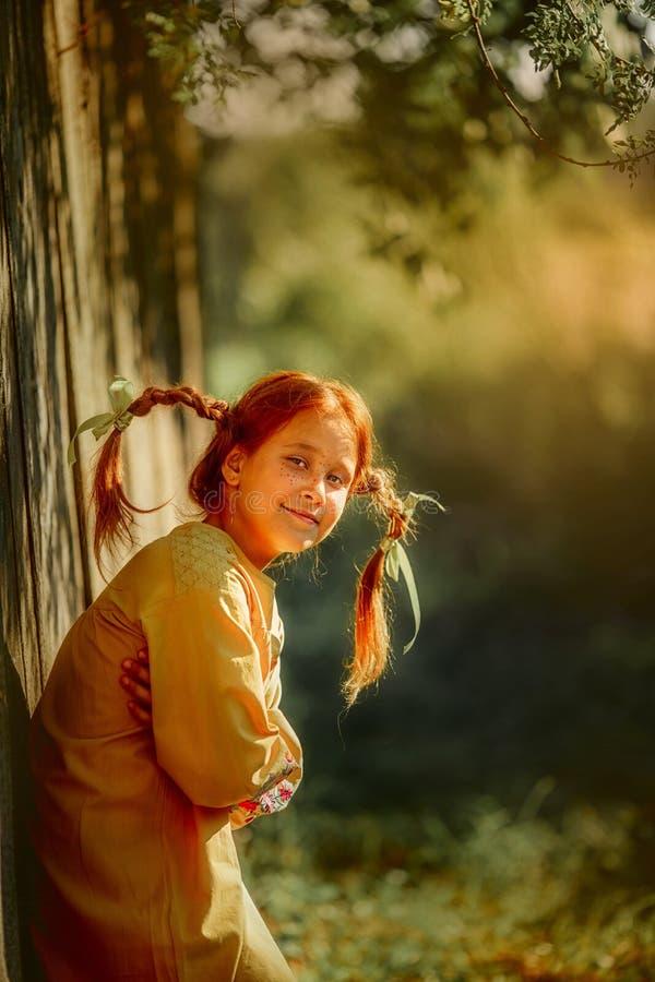 Het openluchtportret van Pippi Longstocking stock foto's