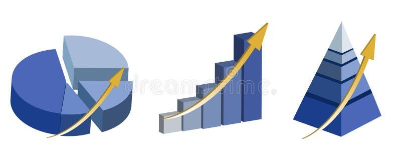 Het opheffen van grafieken royalty-vrije illustratie