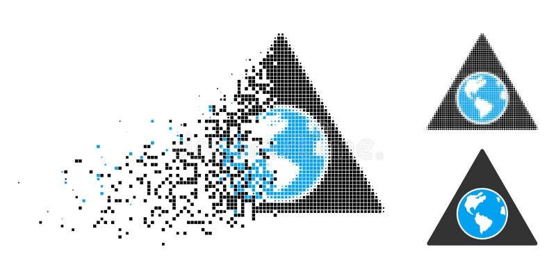 Het oplossen stippelde Halftone Terra Triangle Icon stock illustratie