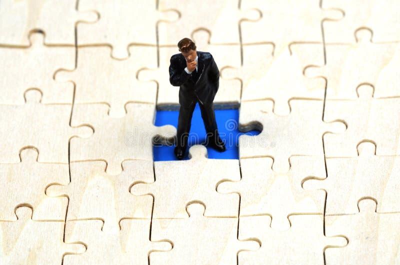 Het oplossen van een bedrijfsprobleem royalty-vrije stock afbeeldingen