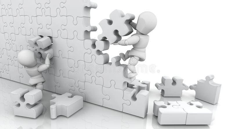 Het oplossen van puzzel stock illustratie