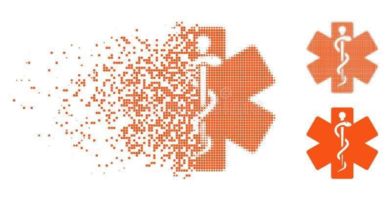 Het oplossende Gestippelde Halftone Pictogram van de het Levensster vector illustratie