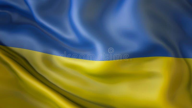 Het opschorten van vlag van de Oekraïne, diplomatie stock foto
