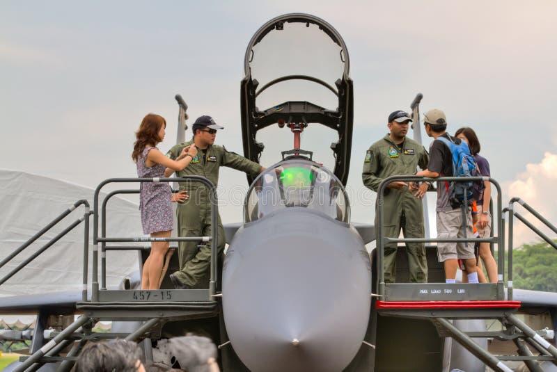 Het opstaan dicht met statische vertoning F-15 stock foto's