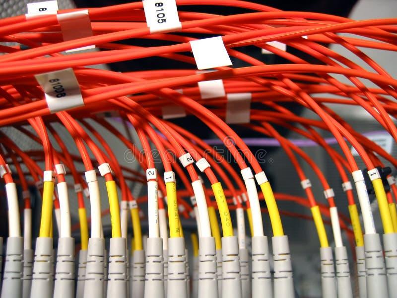 Het Optische Netwerk van de vezel royalty-vrije stock fotografie
