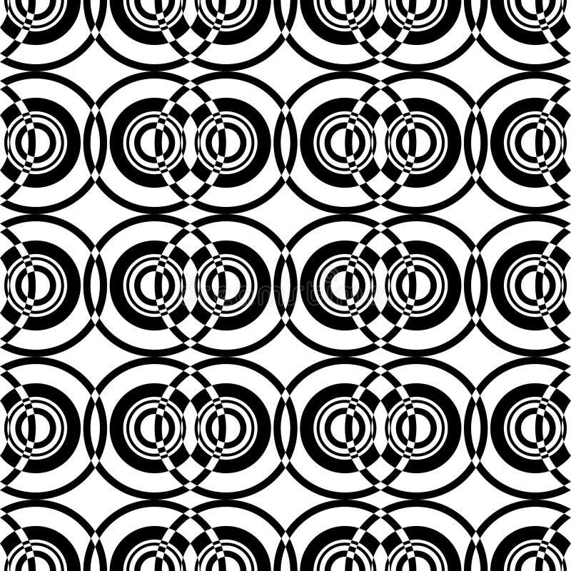 Het optische patroon van cirkels van verschillende grootte stock illustratie