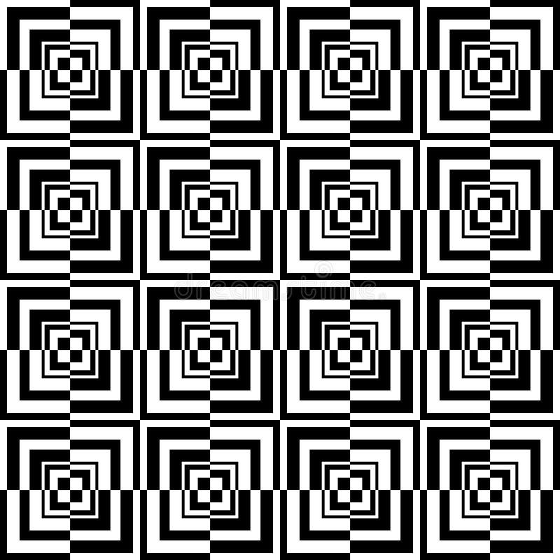 Het optische patroon van vierkanten vector illustratie