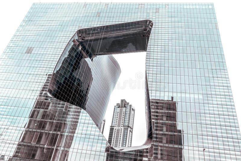 Het Opus - de Moderne Vloeibare Bouw van Architect Zaha Hadid, Doubai, de V.A.E stock afbeeldingen