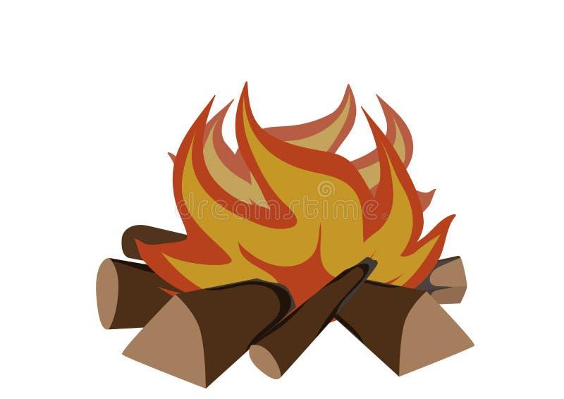 Het opvlammen van de brand royalty-vrije illustratie