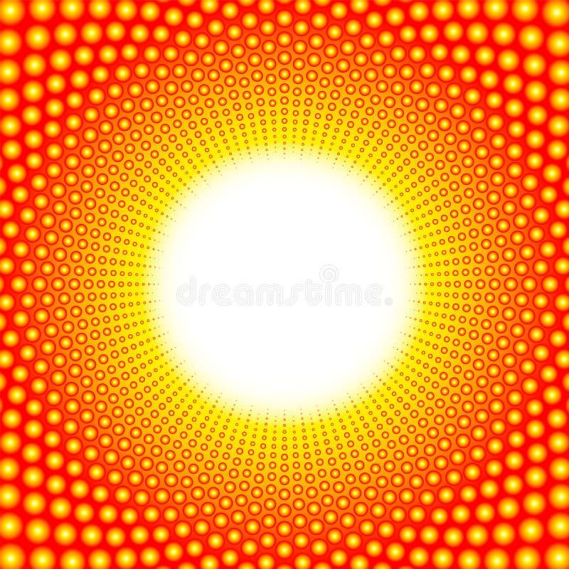Het Opvlammende Gloeiende Centrum van het hittepatroon vector illustratie