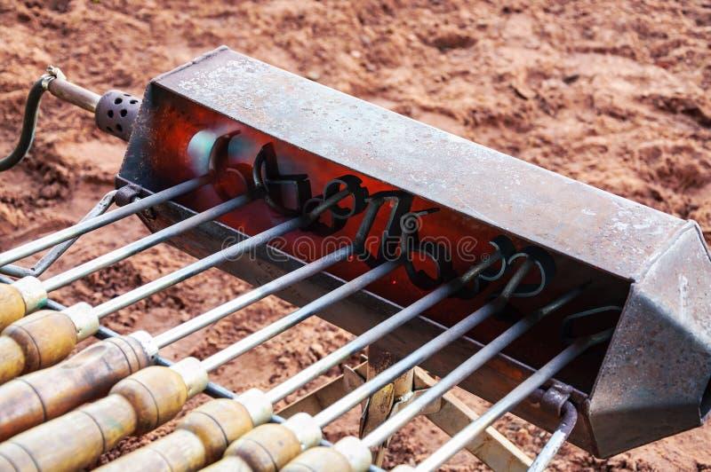 Het opwarmen van de zegels voor vee het merken royalty-vrije stock fotografie