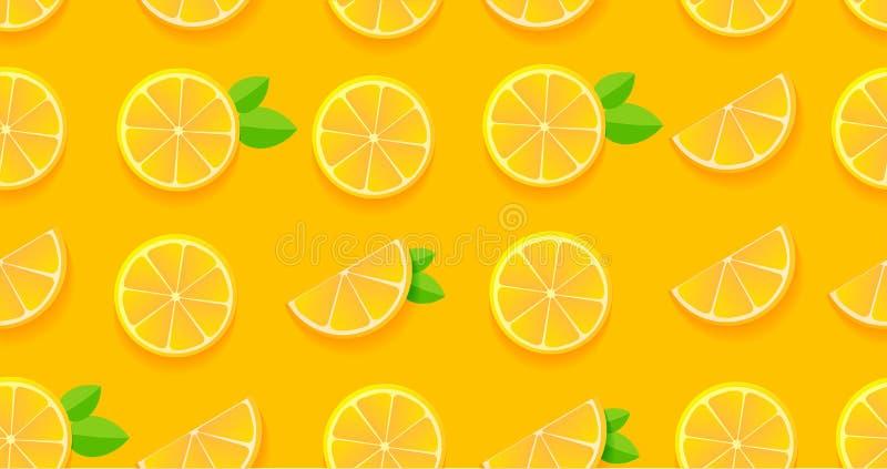 Het oranje plakken naadloze patroon, moderne plat grafisch voor stof of packege ontwerpt vector illustratie