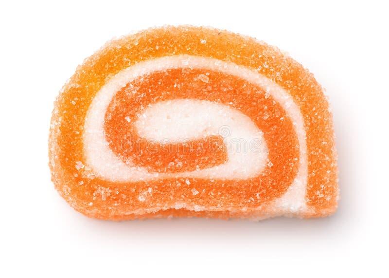 Het oranje suikergoed van de fruitgelei stock afbeelding