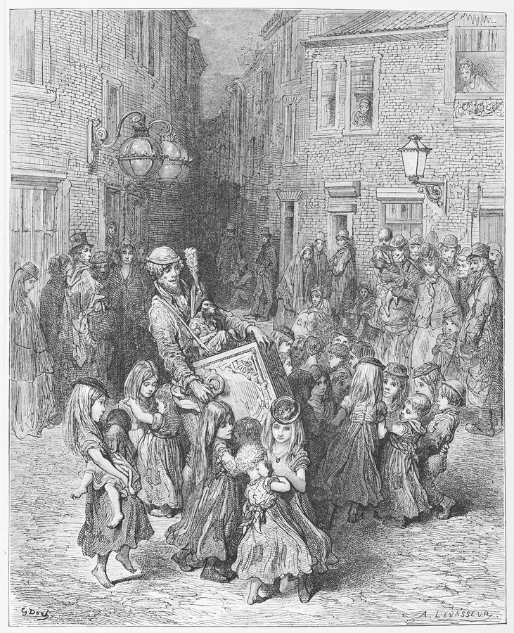 Het Orgaan in het Hof stock illustratie