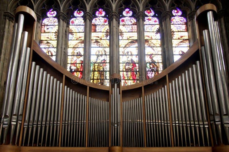 Het Orgaan van de kerk royalty-vrije stock afbeeldingen