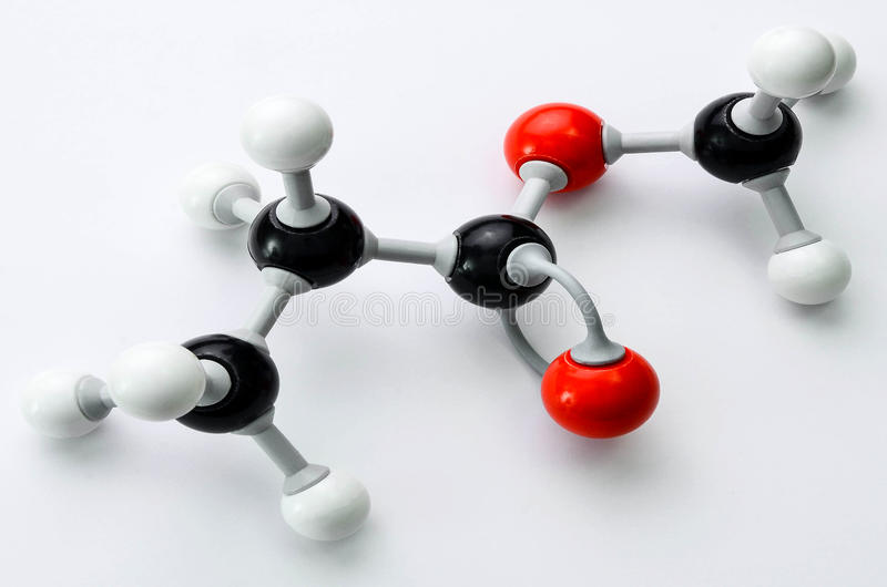 Het organische model van de Chemiemolecule royalty-vrije stock foto