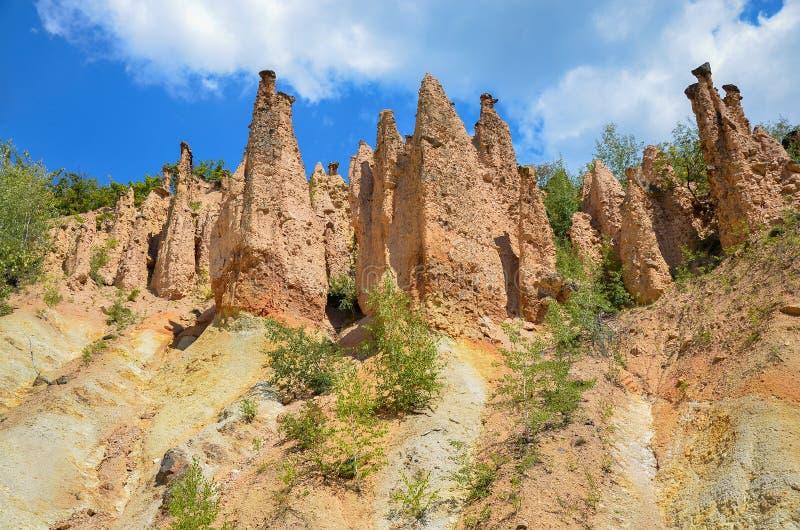 Het oriëntatiepunt van de duivelsstad in Servië stock afbeelding