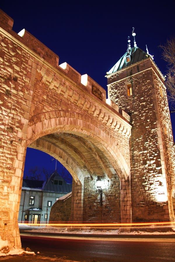 Het oriëntatiepunt van de Stad van Quebec royalty-vrije stock afbeelding