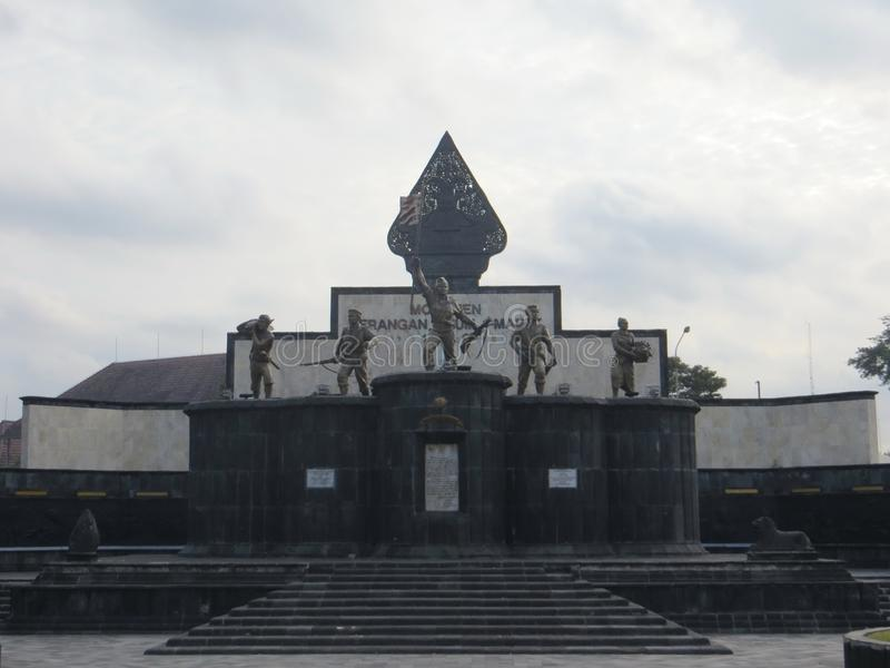 Het oriëntatiepunt van de Yogyakartastad stock fotografie