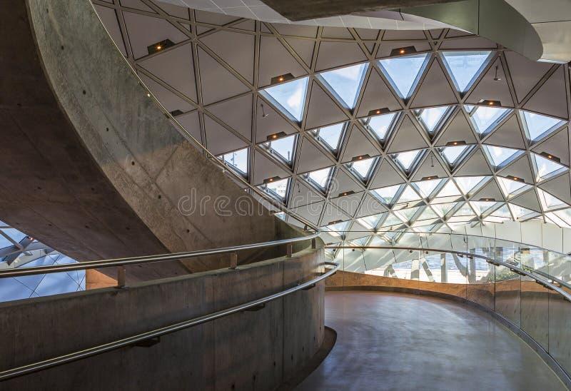 Het Oriëntatiepunt van Denemarken Aalborg van het muziekhuis operahouse stock fotografie