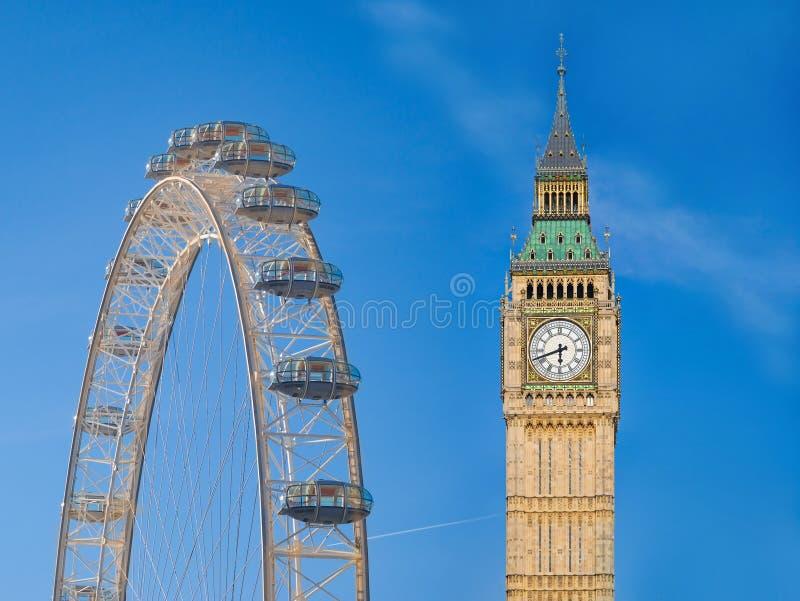 Het oriëntatiepuntsymbolen van Londen stock afbeeldingen