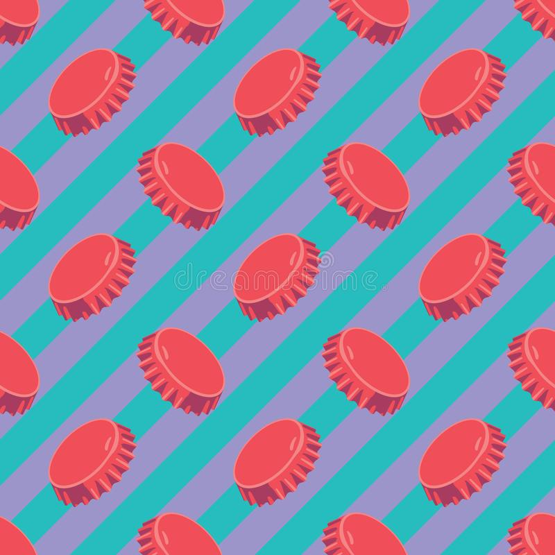 Het originele geometrische moderne patroon van de pop-artstop royalty-vrije illustratie