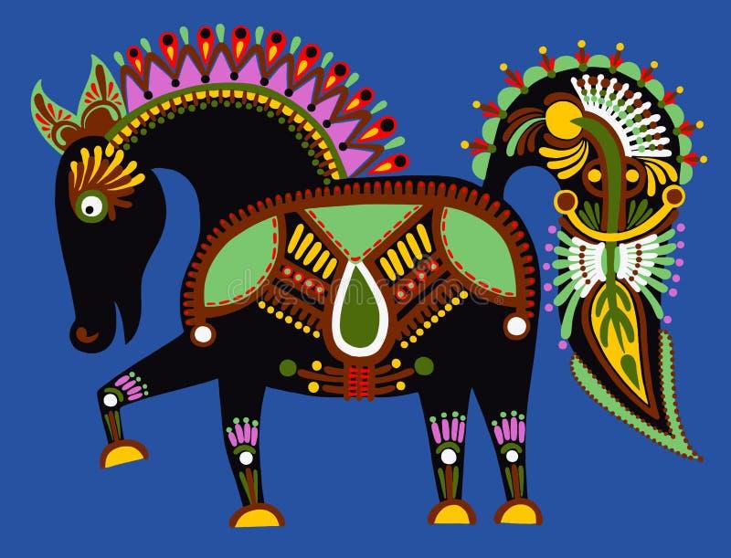 Het originele Oekraïense stammen dierlijke schilderen, vector illustratie