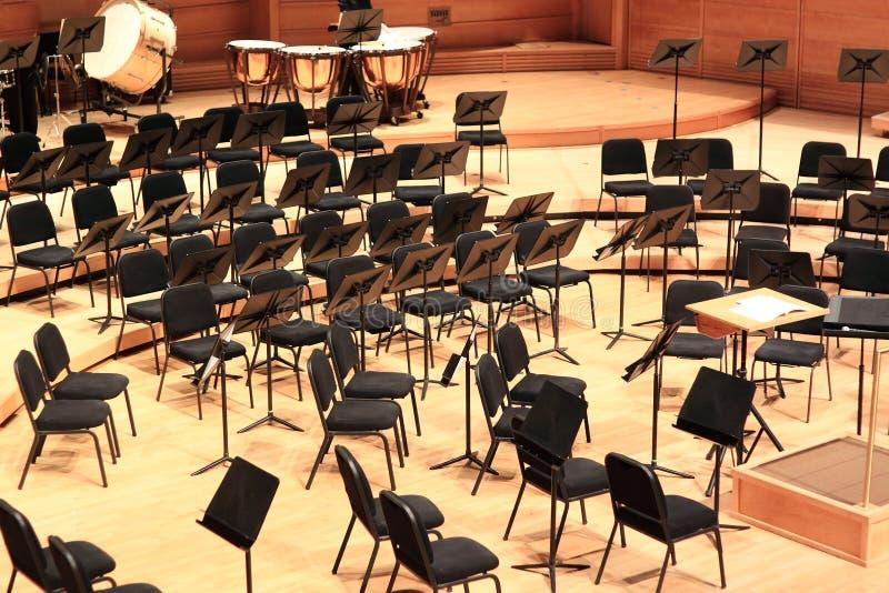 Het Orkest van de symfonie stock foto