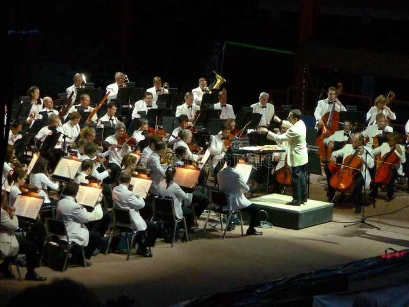 Het Orkest van de Symfonie van Colorado bij Rode Rotsen royalty-vrije stock afbeelding