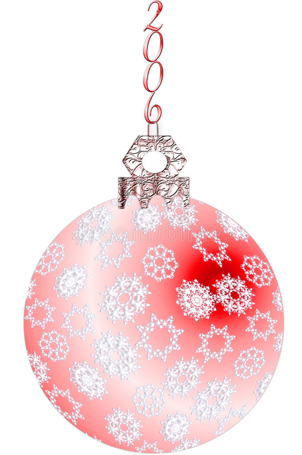Het Ornament 2006 van de sneeuwvlok vector illustratie