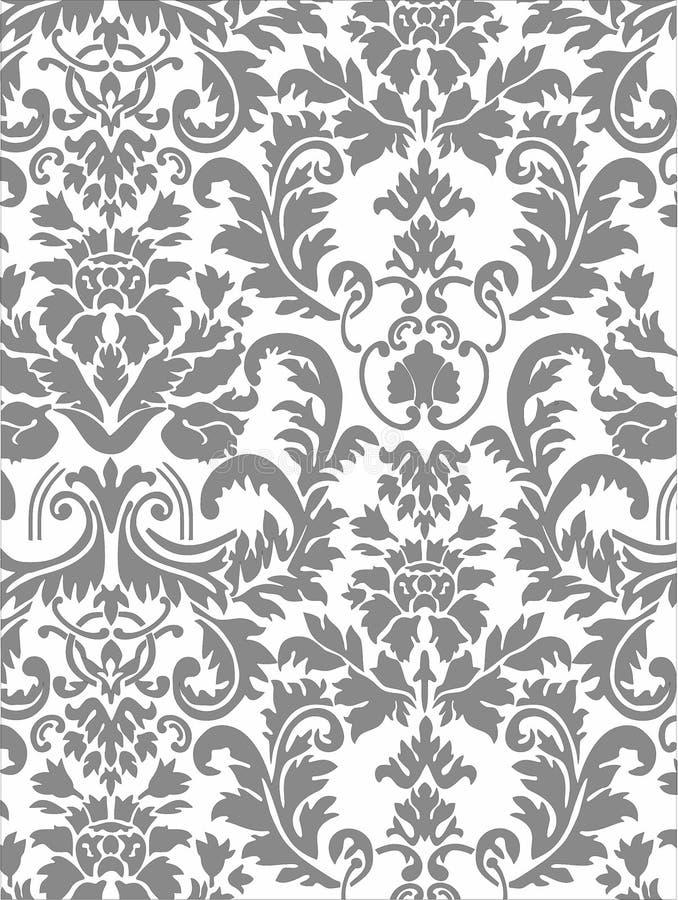 Het ornament Damascus van het patroonmonogram royalty-vrije stock afbeeldingen