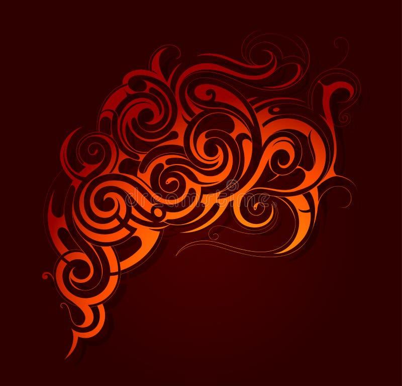 Het ornament van brandvlammen royalty-vrije illustratie