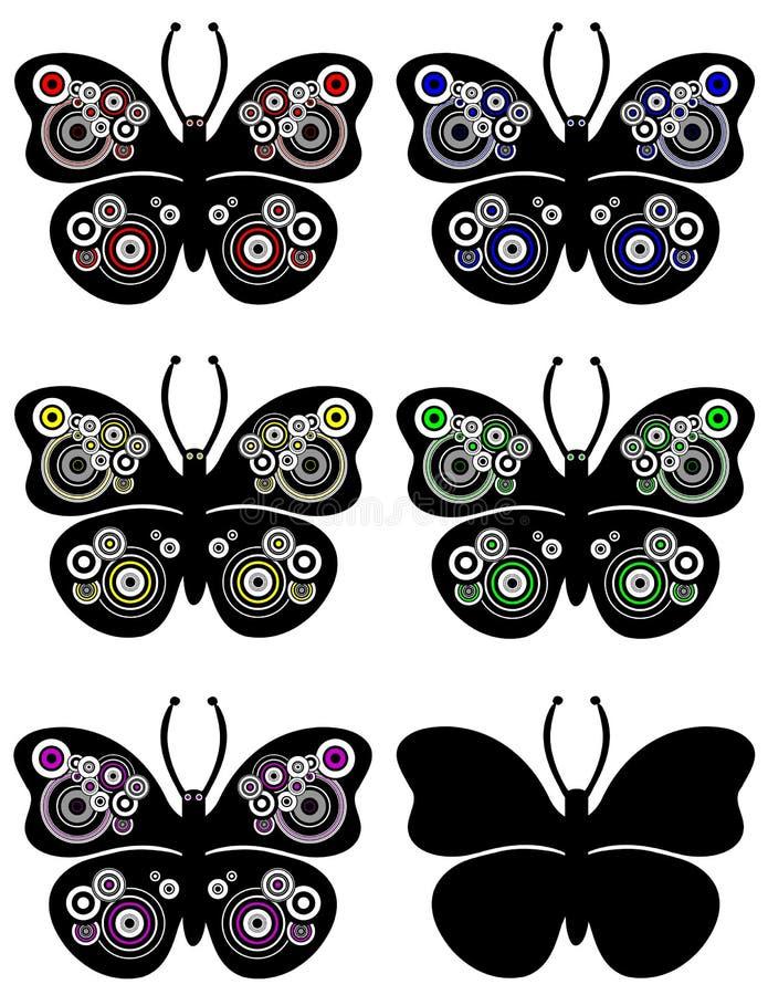 Het Ornament van de Cirkels van de vlinder vector illustratie