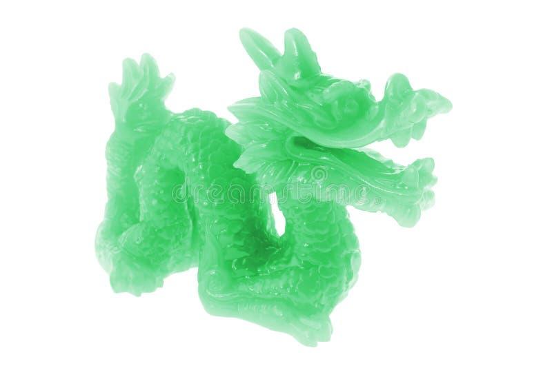Het Ornament van de Draak van de jade royalty-vrije stock foto's