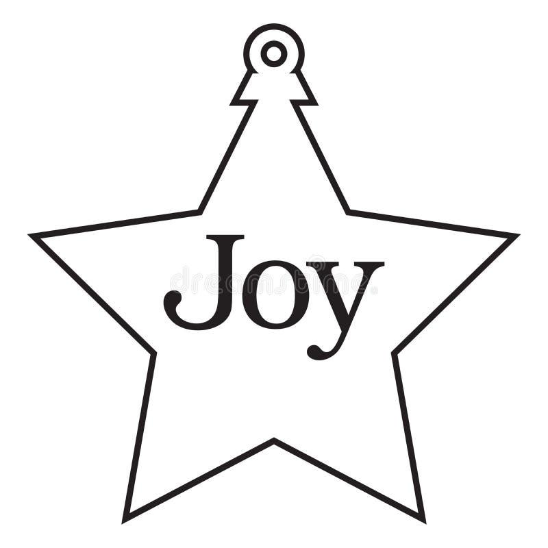 Het ornament van de kerstboom stock illustratie