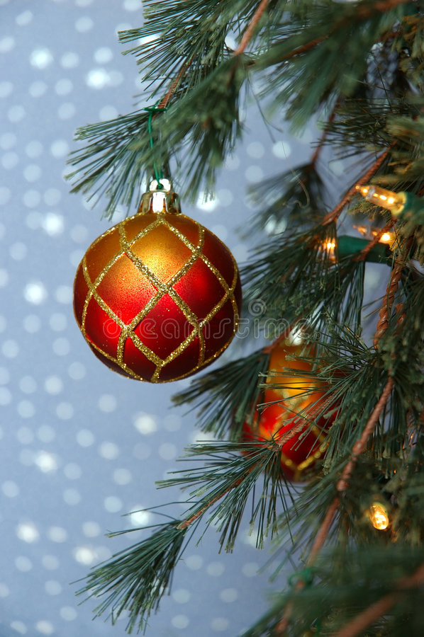 Het Ornament van de kerstboom royalty-vrije stock foto's