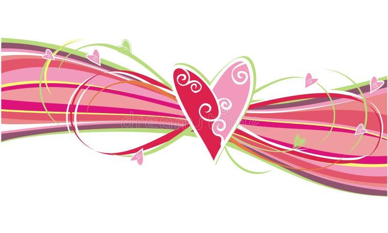 Het ornament van harten royalty-vrije illustratie
