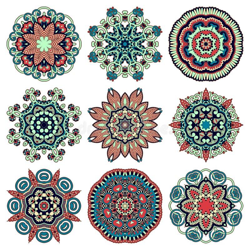 Het ornament van het cirkelkant, ronde sier geometrisch royalty-vrije illustratie