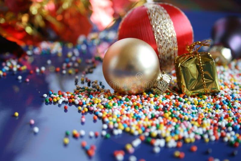 Het ornament van het nieuwjaar. stock foto's