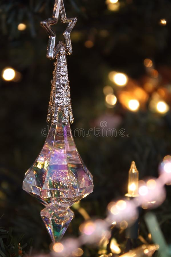 Het ornament van Kerstmis op boom royalty-vrije stock afbeelding