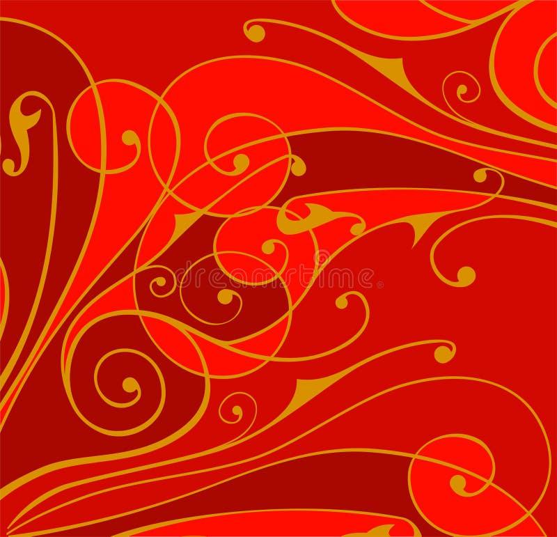 Het ornamentachtergrond van bloemen royalty-vrije illustratie